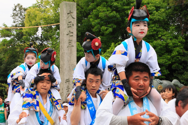 継ぎ獅子(大井八幡神社、愛媛県今治市)イメージ1