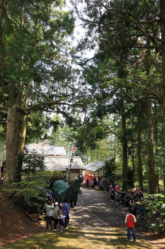 三滝神社春祭り(八つ鹿踊り、愛媛県西予市城川)_1イメージ1