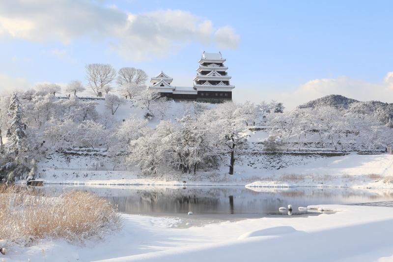 雪の大洲城(愛媛県大洲市)_1イメージ1