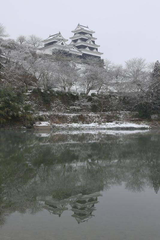 大洲城_1月(雪、愛媛県大洲市)イメージ1